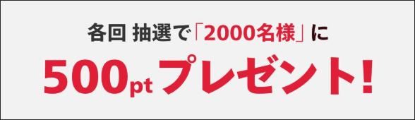 総額300万ポイント山分けキャンペーン
